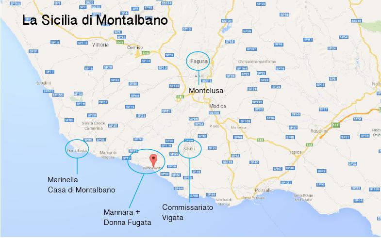 Mappa luoghi di Montalbano