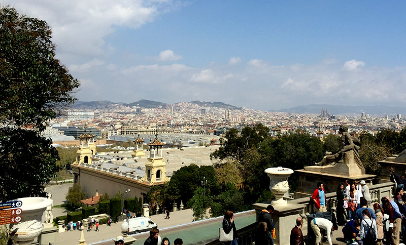 MNAC-vista su Barcellona