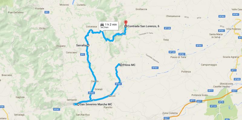 itinerario valle del potenza