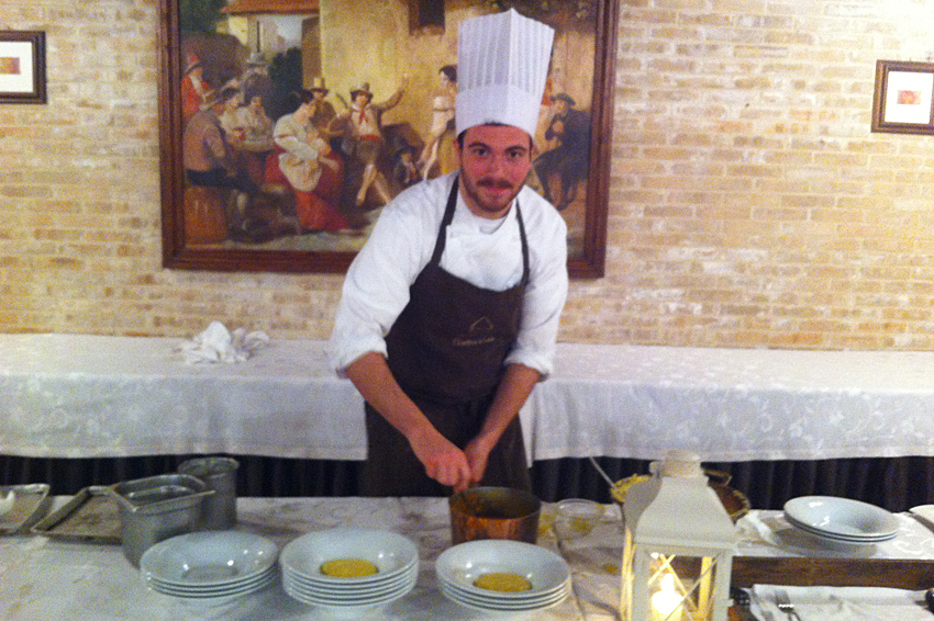 La preparazione della polenta.