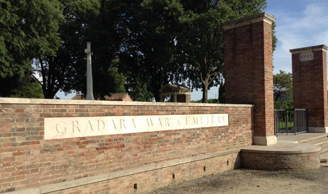 gradara war cemetery_ingresso
