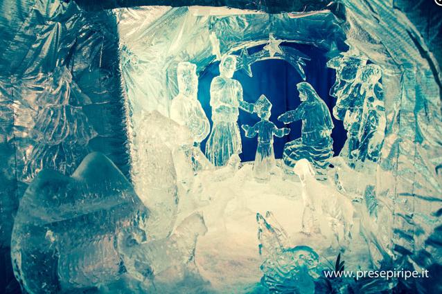 Il presepe di ghiaccio di Ripe San Ginesio.