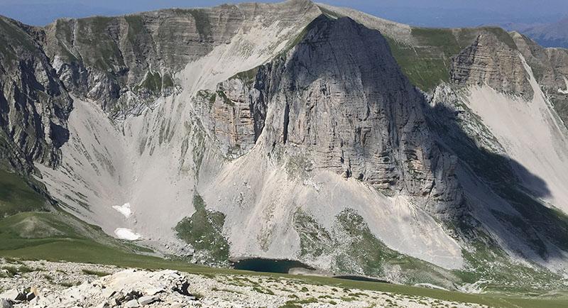 panorama lago pilato dal vettore