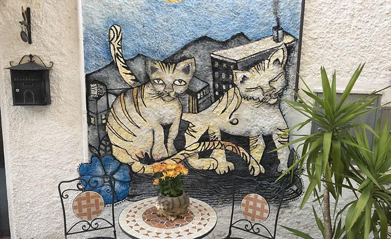 Braccano murales gatti