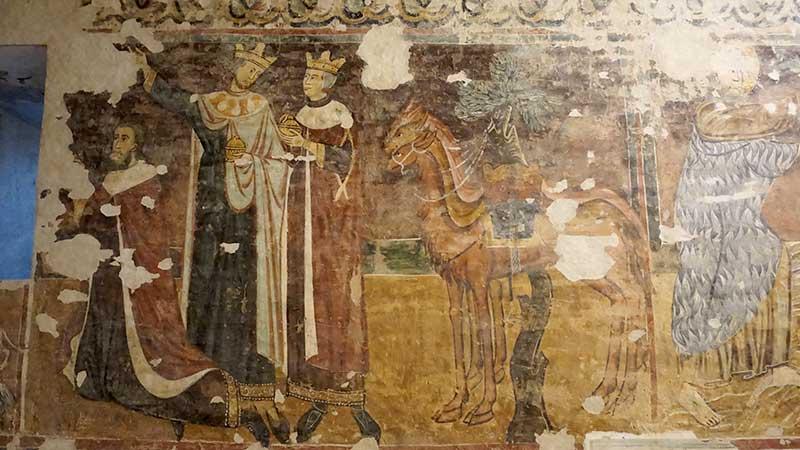 Sant'Ugo: l'affresco dedicato ai Re Magi