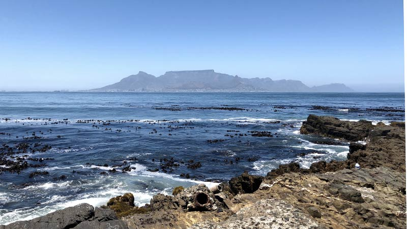 Robben Island vista su Table Mountain