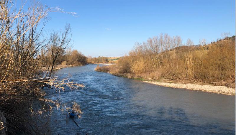 Oasi Ripa Bianca - Il fiume Esino